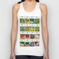 vegetable Tank Tops featuring Vegetable Seeds by La Maison du Lapino