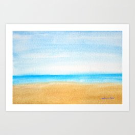 Just the Ocean and I Art Print