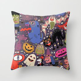 Yay for Halloween! Throw Pillow