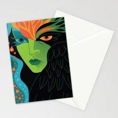 Eagle-eye Warrior Woman Stationery Cards