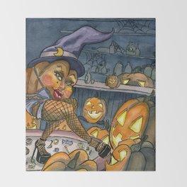 Pumpkin Stripper Throw Blanket