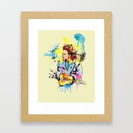 Play your ukulele Framed Art Print