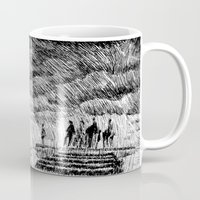 storm Mugs featuring Storm - Ink by Nicolas Jolly