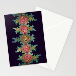 Amazing patterns in orbs and dragon spirals Stationery Cards