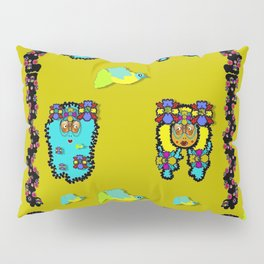 peace people hippie friends and free living fauna Pillow Sham
