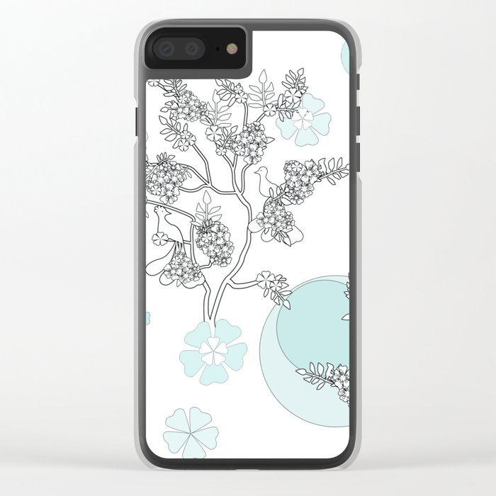 Foggy morning . Clear iPhone Case