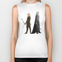 thranduil Biker Tanks featuring Legolas & Thranduil by rdjpwns