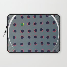 Green floats on Yellow - Crescent Laptop Sleeve