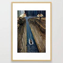 Watching it Drift Away Framed Art Print