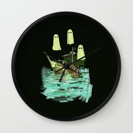 ghost pirate boat Wall Clock