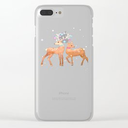 Christmas Deer, reindeer, christmas ornaments, holiday gift, christmas gift, gift for kids, xmas Clear iPhone Case
