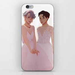 Wedding Dresses | Victuuri iPhone Skin