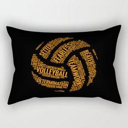 Orange Volleyball Wordcloud - Gift Rectangular Pillow