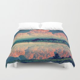 Admiring the Clouds in Kono Duvet Cover