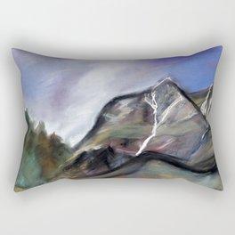 stormy sky above the mountains Rectangular Pillow