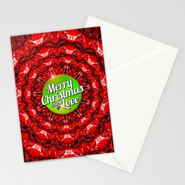 Merry Christmas with Love Stationery Cards