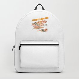 I'd Rather Be Kite Surfing Water Sports Sailboarding Action Sports Adventure Gifts Backpack