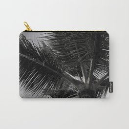 Tropical Palm Tree Upshot In Exotic Noir Carry-All Pouch