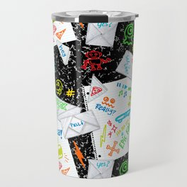 Passing Notes in Class // Old School Origami with Hand Drawn Doodles Travel Mug