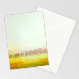 Abstract Yellow Landscape, Modern Southewest Stationery Cards