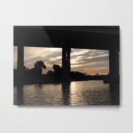 sunset over the Okeechobee waterway Metal Print