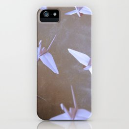 one thousand paper cranes iPhone Case