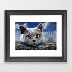Diesel at the wall ! Framed Art Print