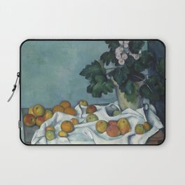 Still Life with Apples and a Pot of Primroses Laptop Sleeve