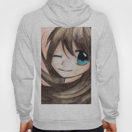 MANGA GIRL FLOWERS GREETINGS Hoody
