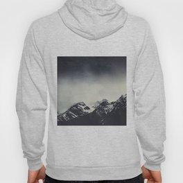 Misty Dark Mountain Peaks in the Italian Alps Hoody