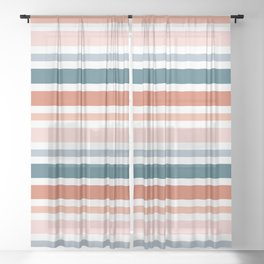 Autumn Sunset Abstract Sheer Curtain