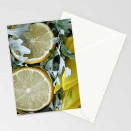 Yellow installation with lemon Stationery Cards
