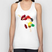 ponyo Tank Tops featuring Ponyo and Sosuke white background by foreverwars