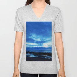 Arm from Above Plays with the Sunset Unisex V-Neck