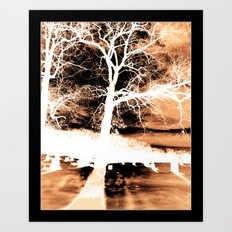 Blue Tree Art Print