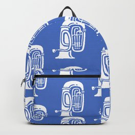 Tuba Pattern Blue Backpack