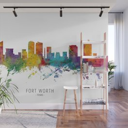 Fort Worth Texas Skyline Wall Mural