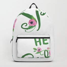 Hello Spring Easter Cute Kids Women Men Backpack