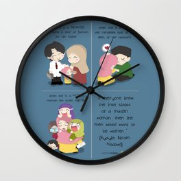 Women in Islam Wall Clock