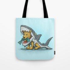 Shark Suit Dog Tote Bag