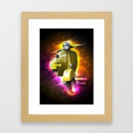 Vespa, a way of life! Framed Art Print
