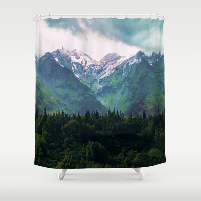 Escaping from woodland heights III Shower Curtain