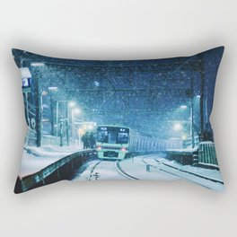 Shimotakaido Station Snow Rectangular Pillow