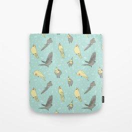 Cockatiel pattern Tote Bag