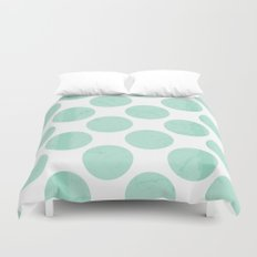 Mint Polka Dot Duvet Cover