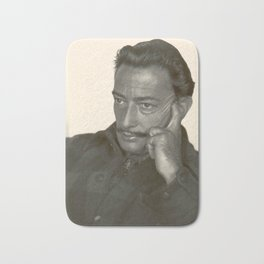 Salvador Dali old photo Bath Mat