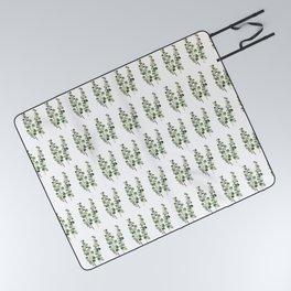 Eucalyptus (watercolor finger painting) Picnic Blanket