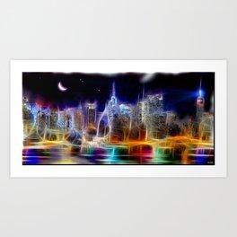 Starry Night New York City Art Print