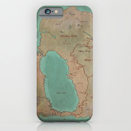Map of Dereth //Asheron's Call iPhone Case
