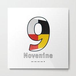 Novenine - Navy Code Metal Print